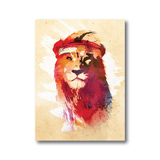 Avant Debut | Gym Lion by Robert Farkas Digital Art and Art Prints