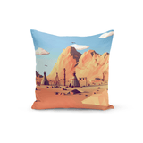 Tim Smits Throw Pillow Mountain Backdrop