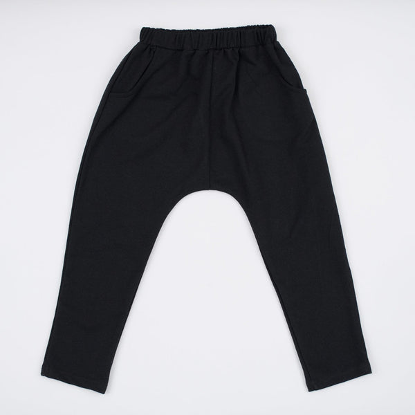 kids black jogger sweats