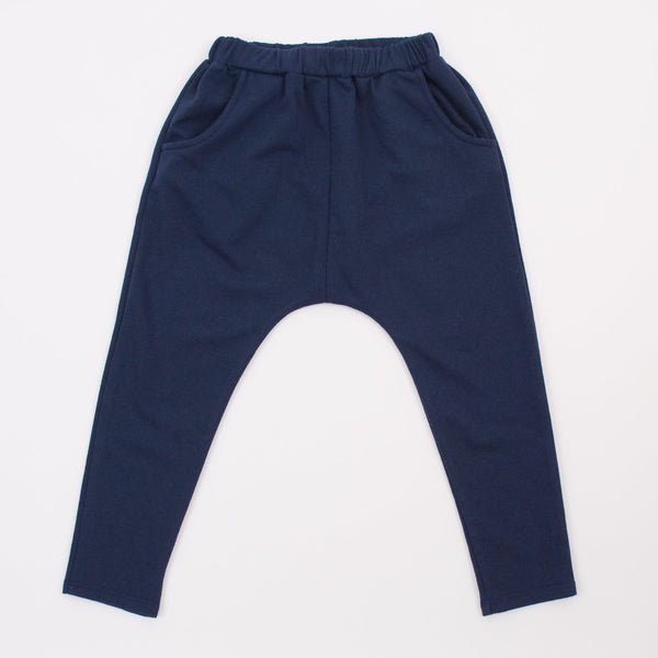 kids navy blue jogger sweats