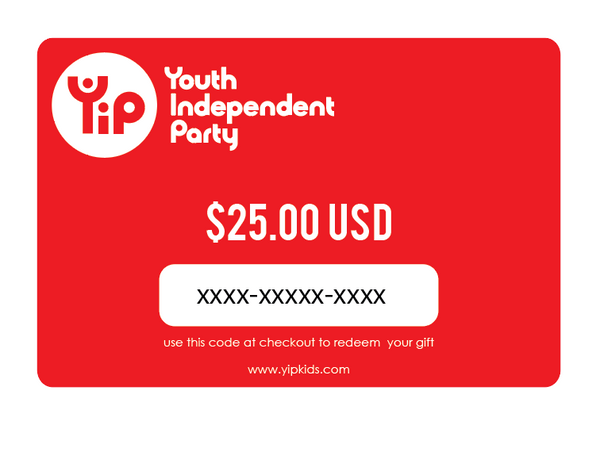 Youth Independent Party 25 dollar gift card