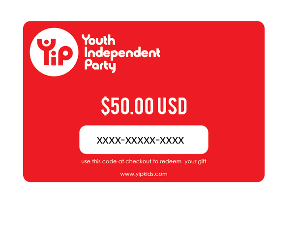 Youth Independent Party 50 dollar gift card