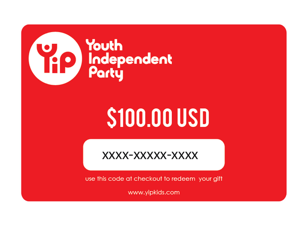 Youth Independent Party 100 dollar gift card