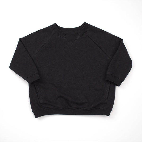 kids black raglan sweatshirt