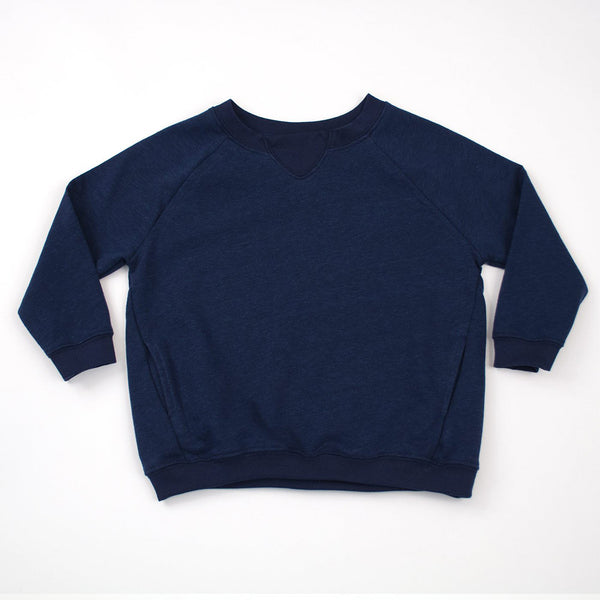 kids blue raglan sweatshirt