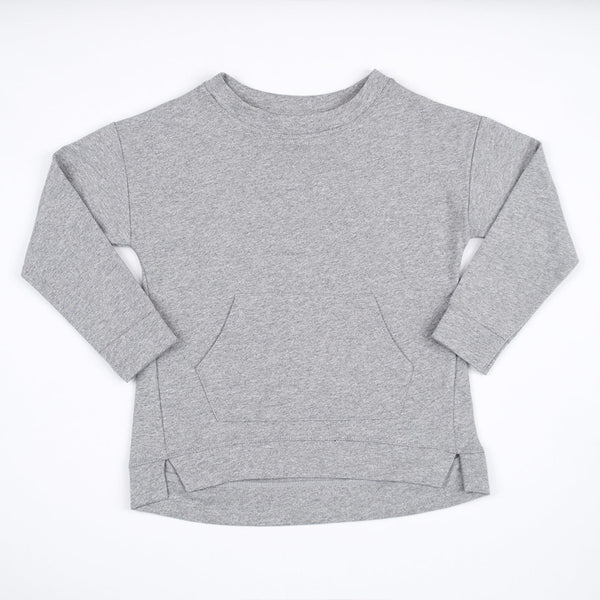 kids grey sweatshirt with kangaroo pocket