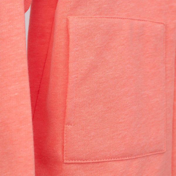 kids coral jacket with front pockets