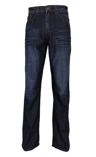 Bailey's Point Men's Fashion Bootcut Jeans Regular Fit: Classic Dark Wash