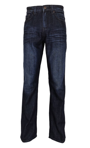Bailey's Point Men's Fashion Bootcut Jeans Regular Fit: Classic Dark Wash - Flypaper Jeans