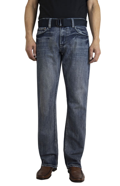 Flypaper Mens Straight Leg Regular FIT Fashion Jeans with Belt Light Blue