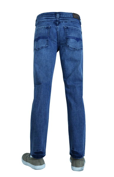 Flypaper Mens Slim Tappered Jeans Light Blue