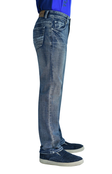Flypaper Boy's Straight Stretch Jeans Regular Fit Silver Haze