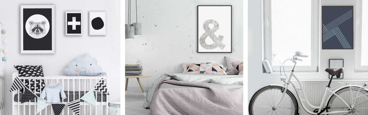 Makers Ink abstract minimalist geometric and Scandi inspired art prints for home and kids rooms