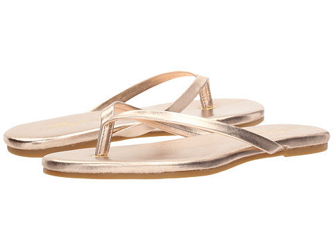 "Yosi Samra ""Rivington"" 2.0 Metallic Leather flip flop"