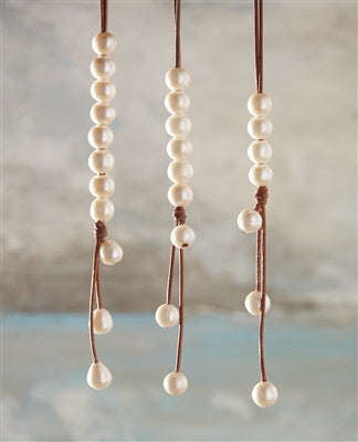 Versatile Four Freshwater Necklace White