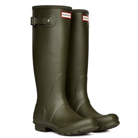 Hunter 'Women's Original Tall' Rain Boots -Dark Olive
