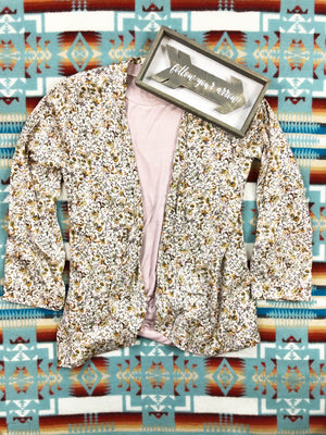 Dusty Floral Open Cardigan