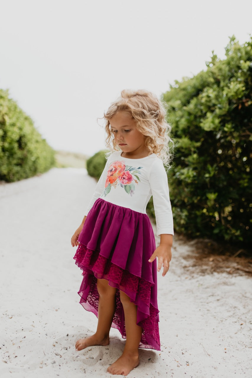 Plum girls dress