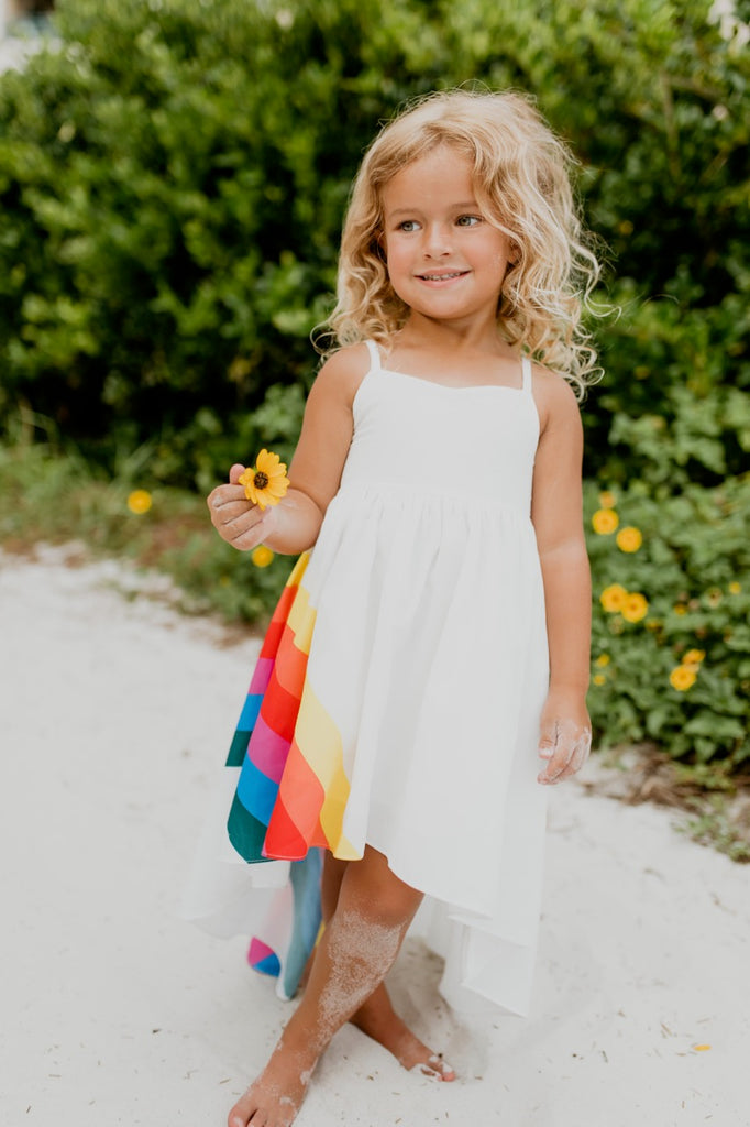 rainbow girls dress