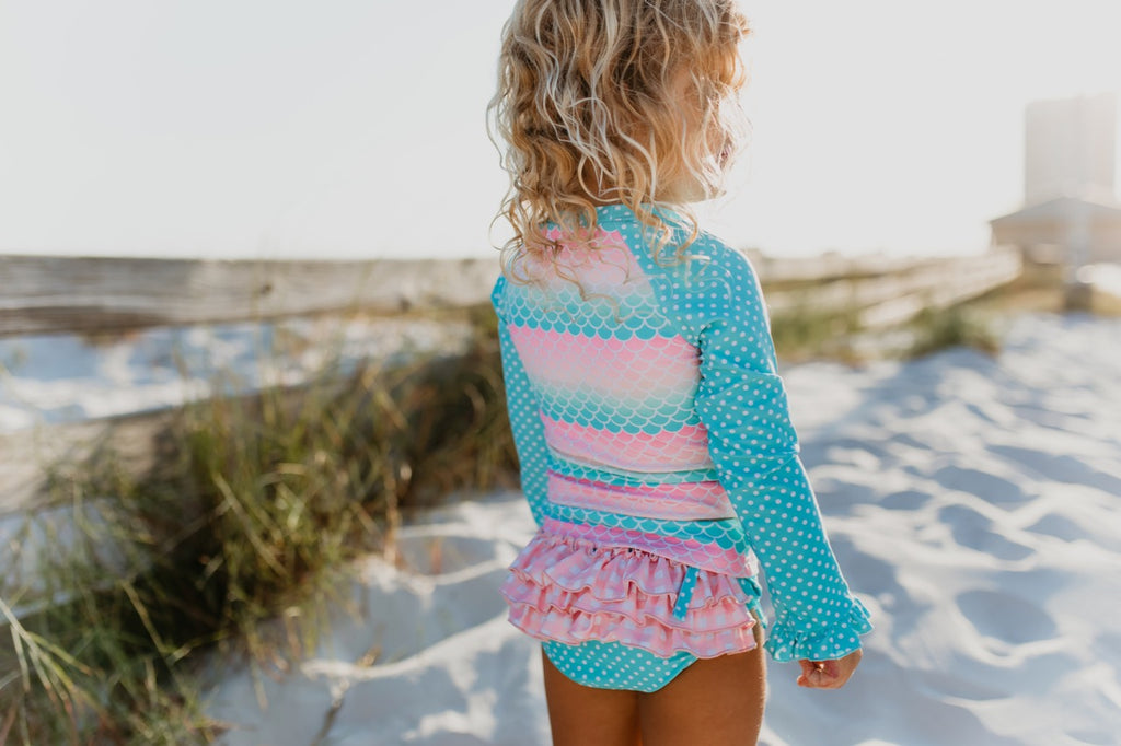 mermaid rashguard set