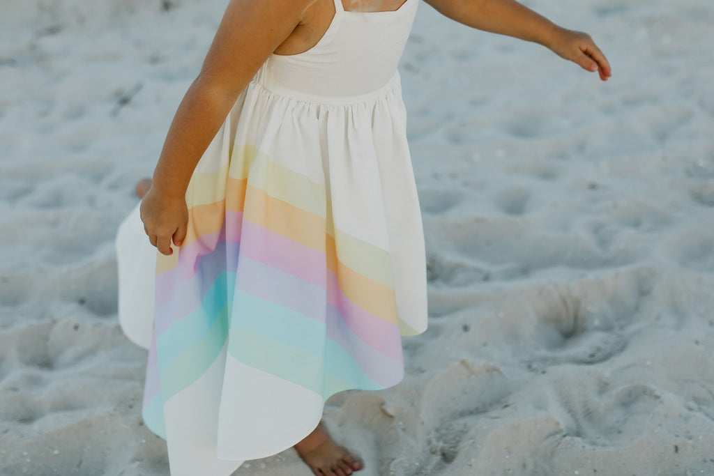 Girls Rainbow Hi Lo Dress