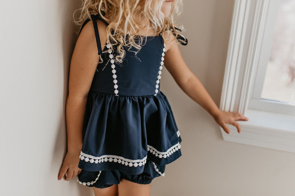 Navy Bloomer Set