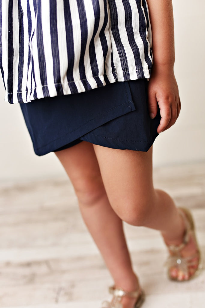 Blue Stripe Short Set