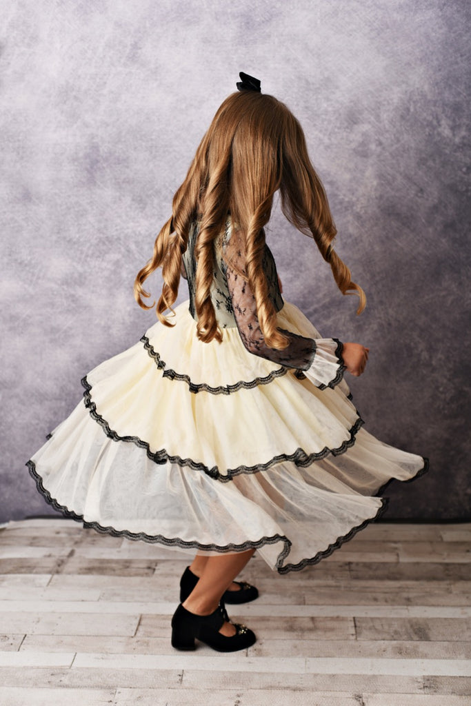 black winter girls dress