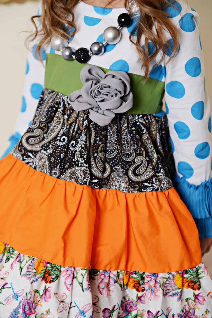 Multi Color girls dress