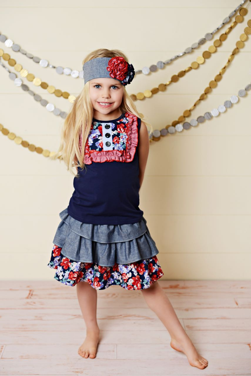 Girls 4th of July Outfit