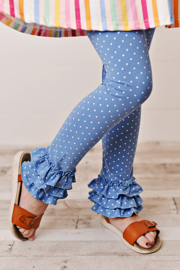Denim Blue Girls Leggings