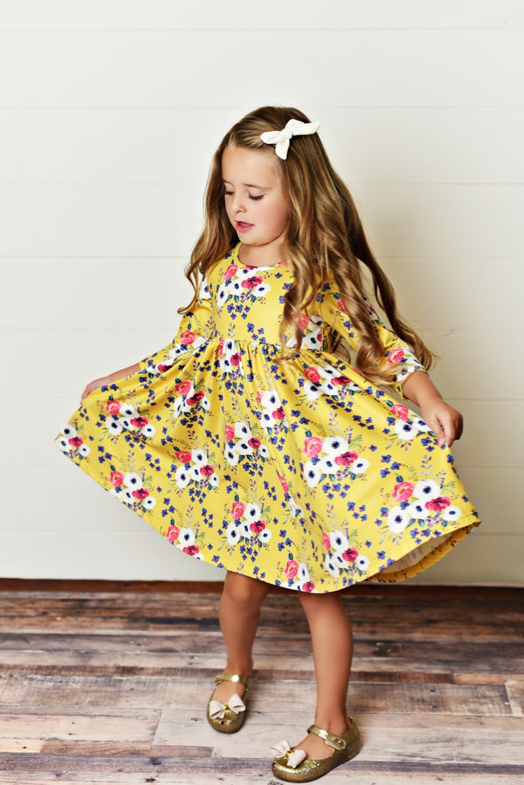Girls Mustard Dress