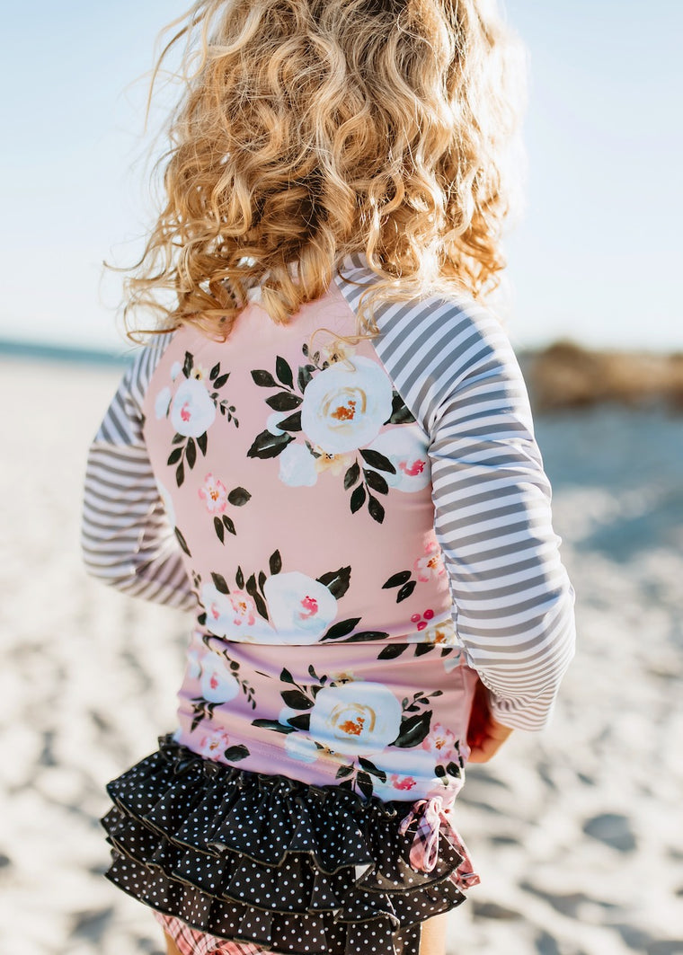 Floral Rashguard girls set