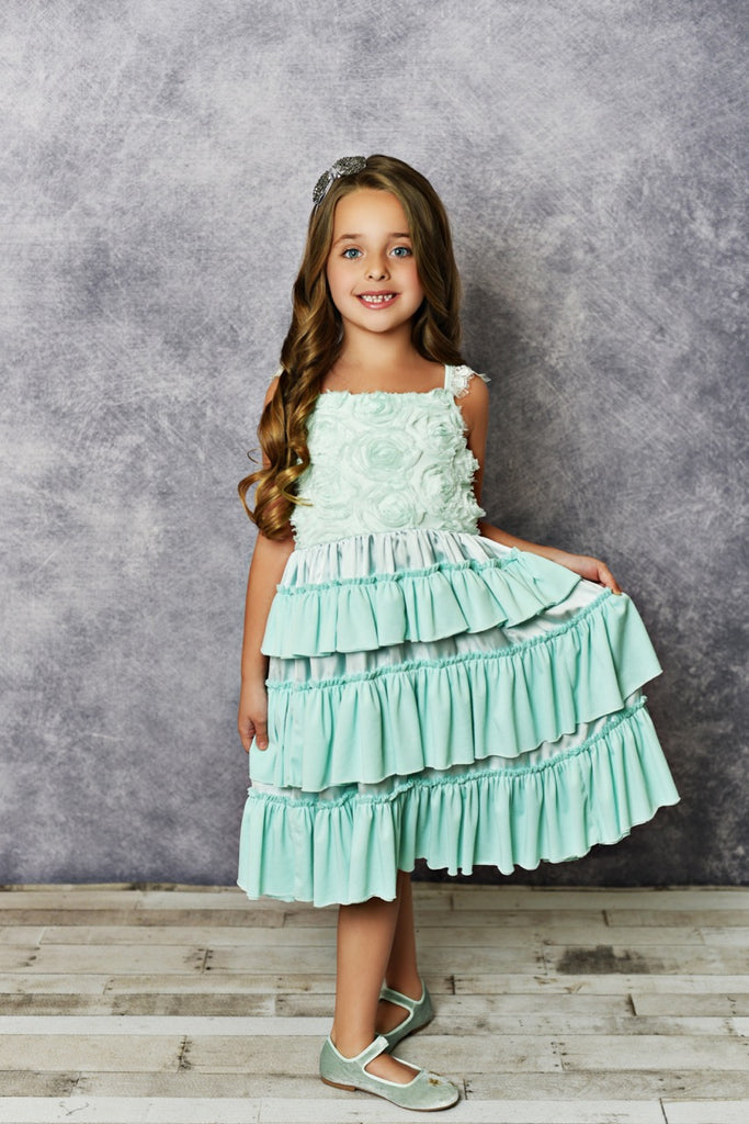 Girls Teal Dress