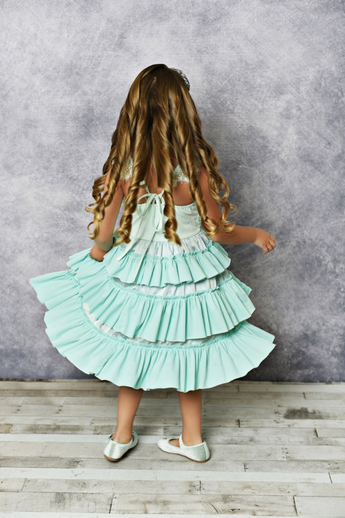 Girls Fancy  Teal Dress