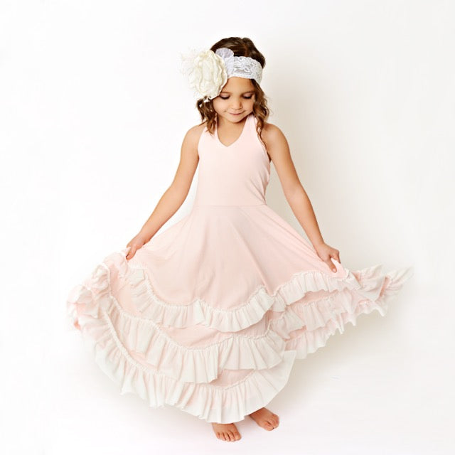 Light Pink Frock Ruffles Dress