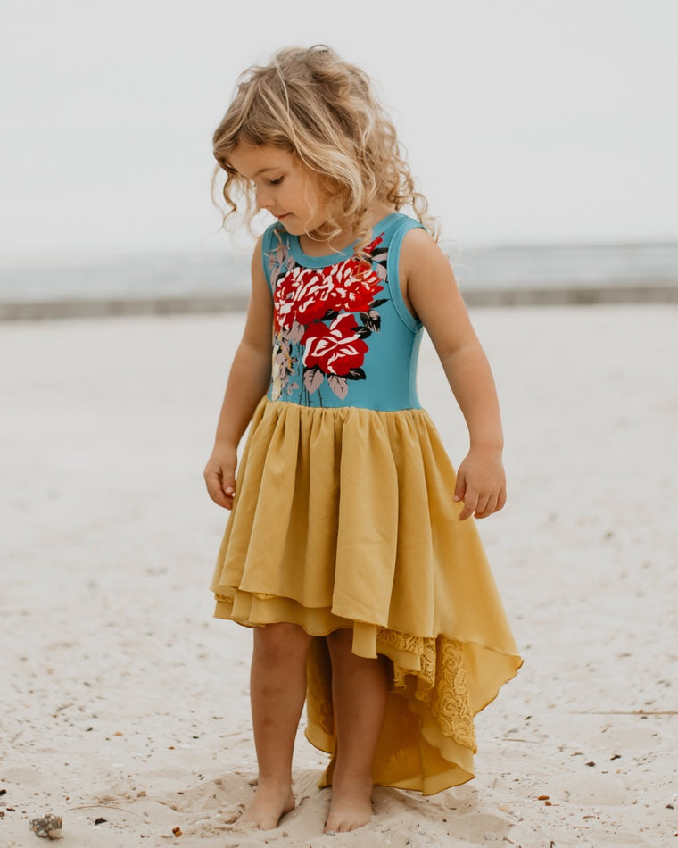 mustard yellow girls dress
