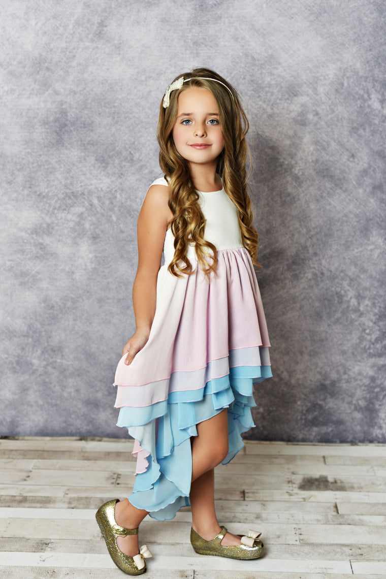 pastel girls dress