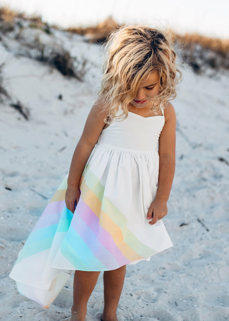 Pastel Rainbow Hi Lo Dress