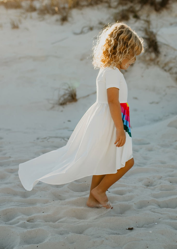 Girls Vivid Rainbow Dress