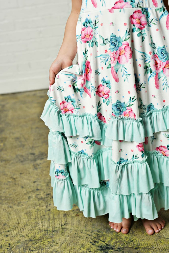 Girls Floral Twirl Dress