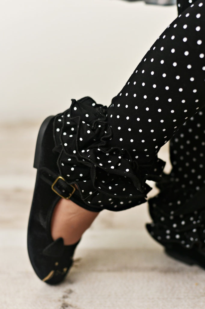 Black Pin Dot Leggings