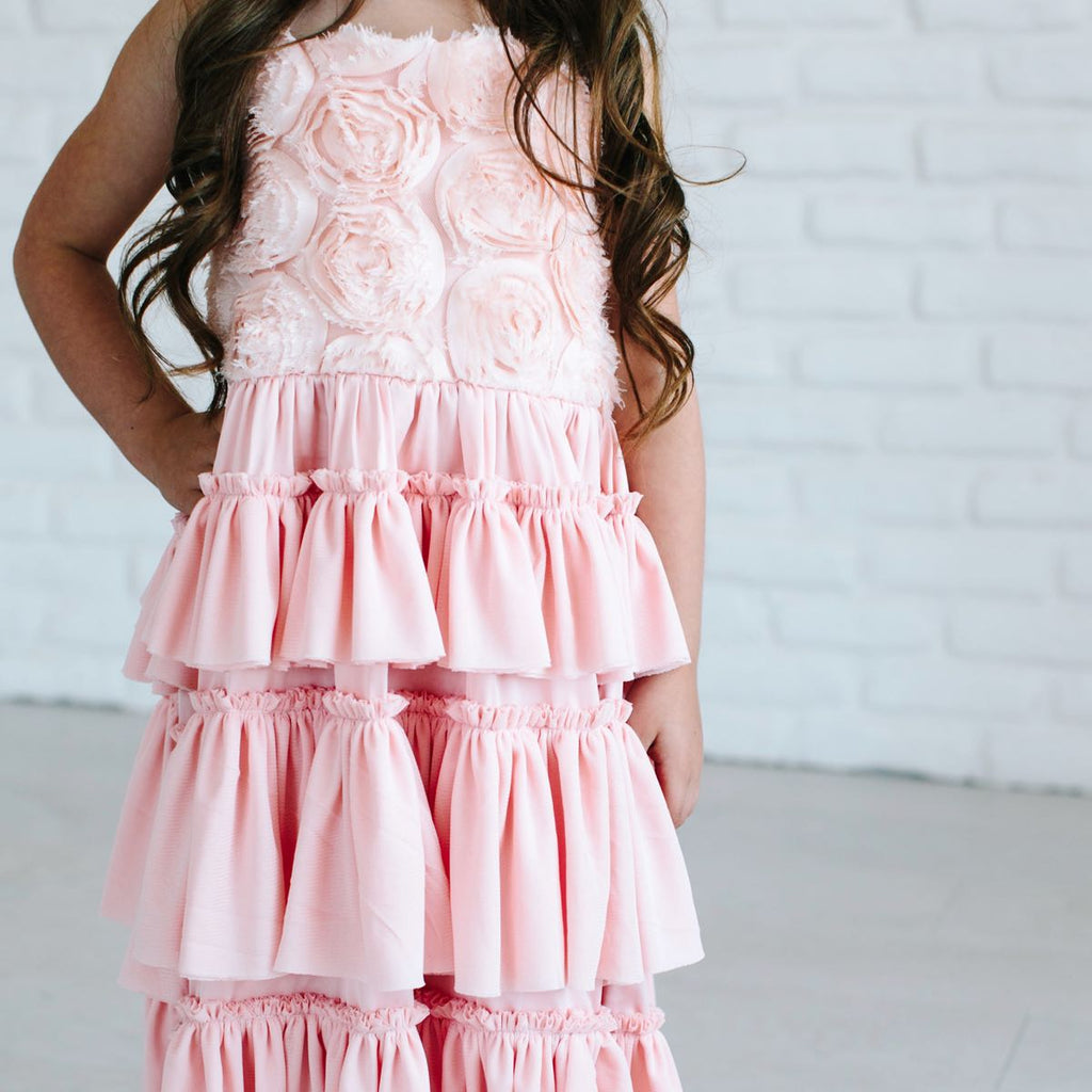 Dusty Pink Flower Girl Dress