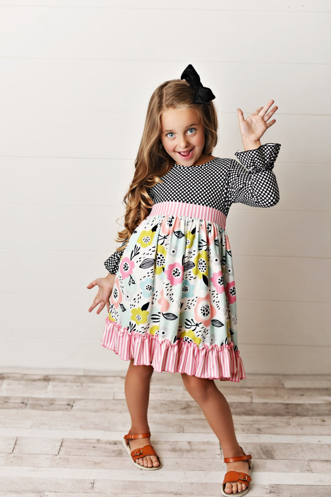ruffle girls dress