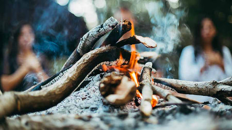 fire, campfire, cacao ceremony, gathering