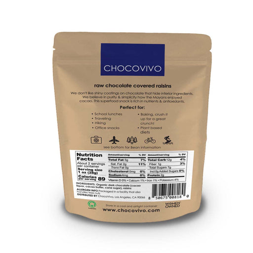 Chocolate Covered Raisins 60% Cacao