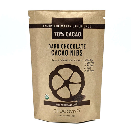 Healthy Snacks - Chocolate Covered Cacao Nibs 70% Cacao
