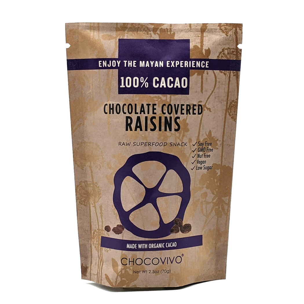 Chocolate Covered Raisins 100% Cacao