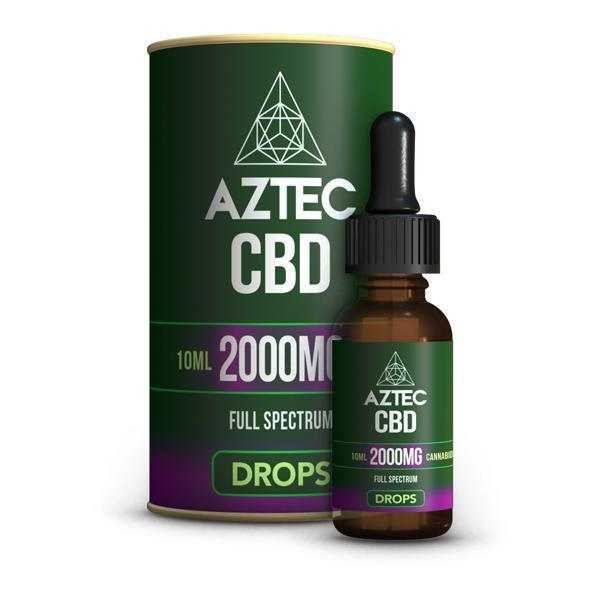 Aztec CBD Full Spectrum Hemp Oil 2000mg CBD 10ml-CBD Products-Vape Cloud UK