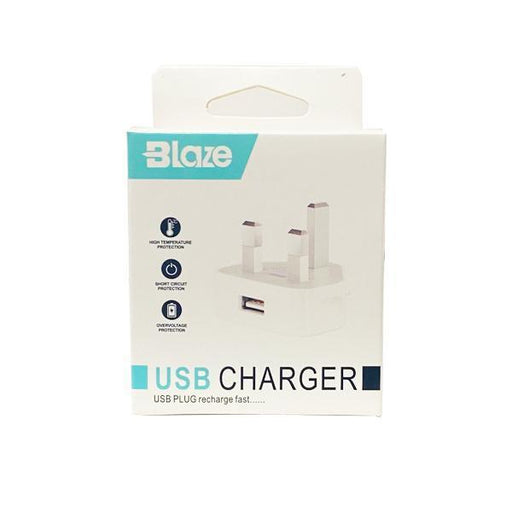 Blaze USB Power Wall Plug Charger-Electronic & Mobile Accessories-Vape Cloud UK